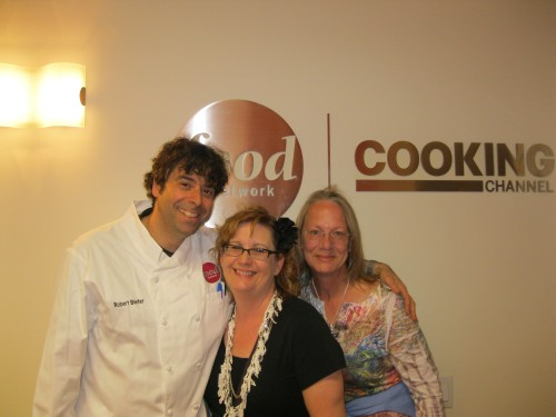 Chef Rob Bleifer, me, Vikki, inside the foodie holy of holies