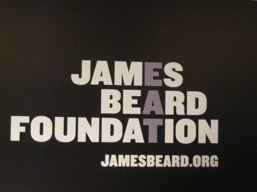 James Beard Foundation sign