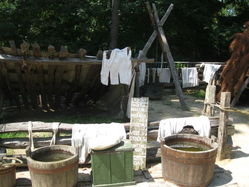 Laundry facilities at Yorktown Victory Center
