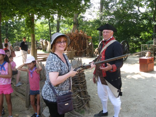 Me with a musket, Yorktown Victory Center