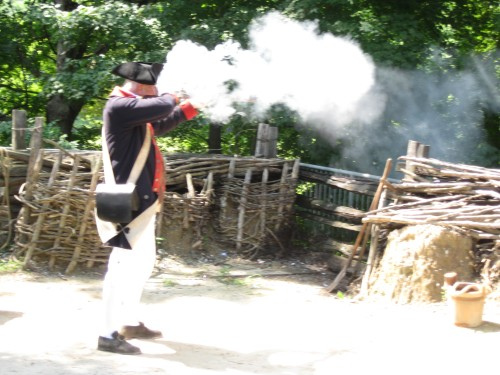 Musket shot, Yorktown Victory Center