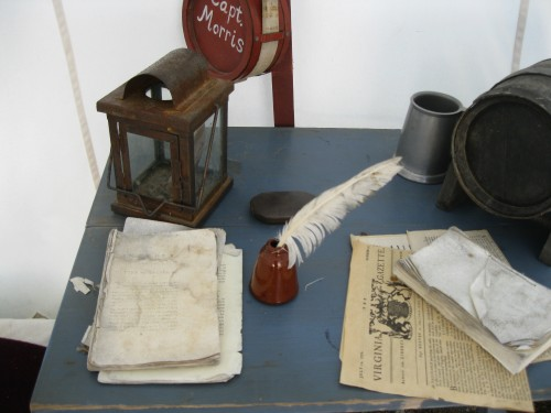 Capt. Morrris's desk Yorktown Victory Center